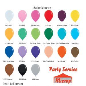 Ballon Kleuren